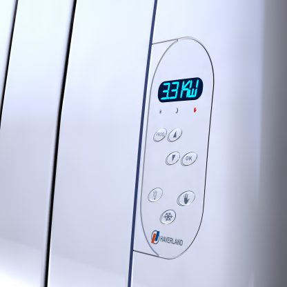 Advanced heating controls on a modern electric heater
