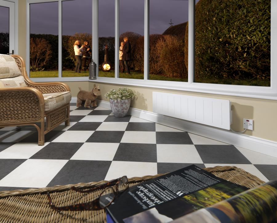 Electric heating in a conservatory