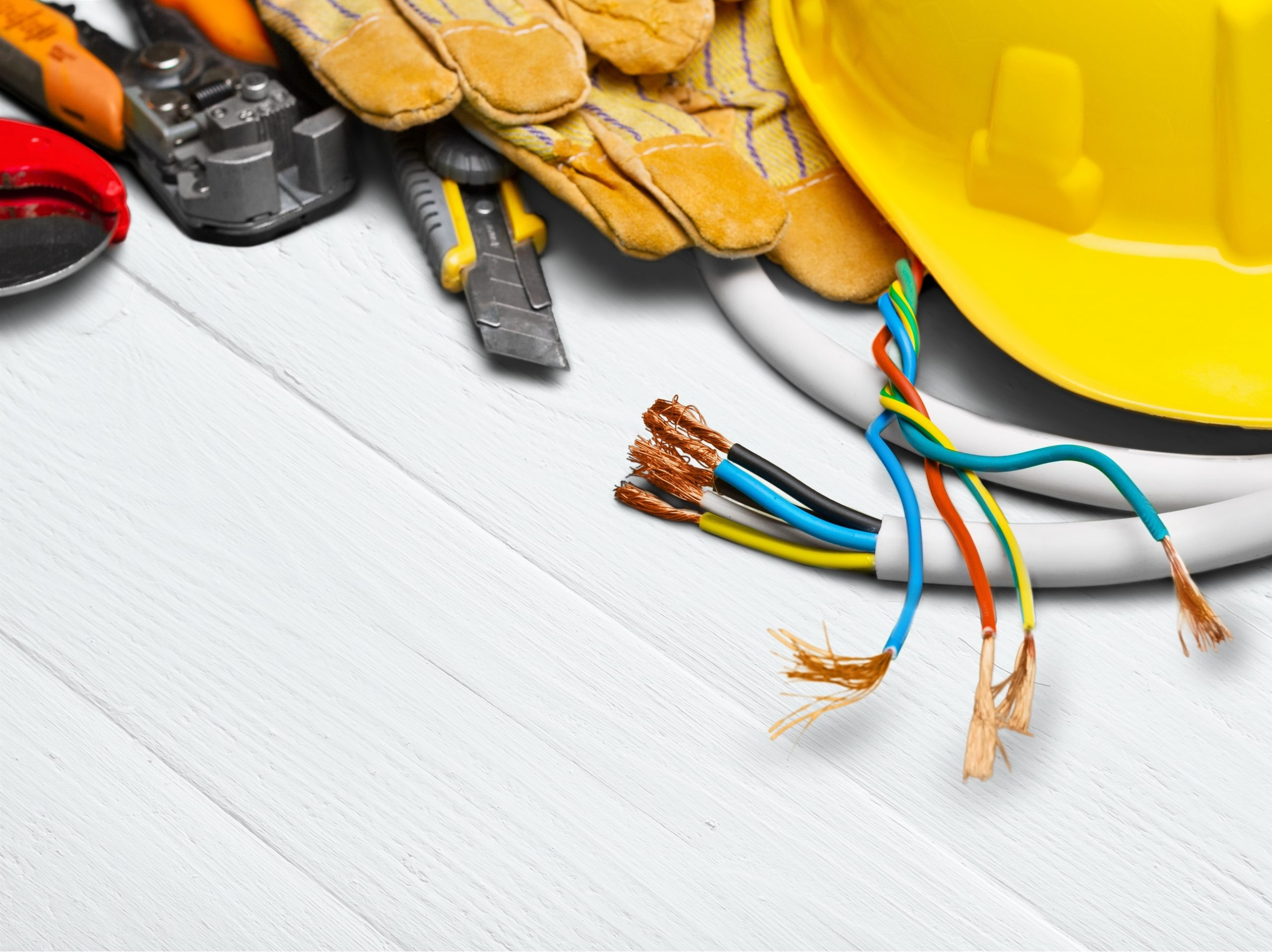 Equipment used by an electrician